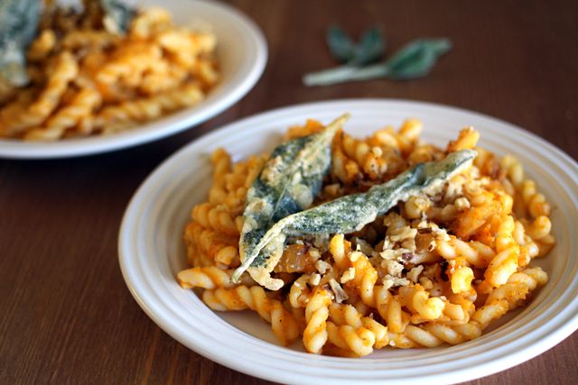 Vegan Butternut Squash Pasta with Battered Sage Leaves | don't miss ...